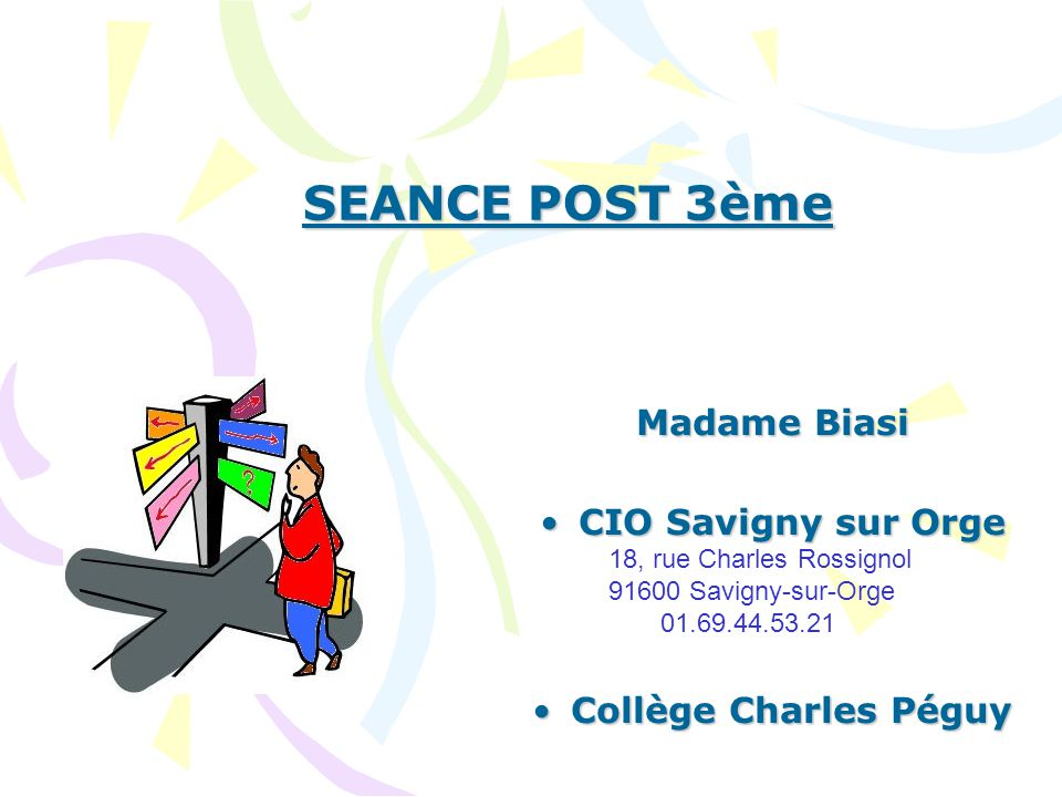 seance post 3 me madame biasi cio savigny sur orge ppt t l charger. Black Bedroom Furniture Sets. Home Design Ideas