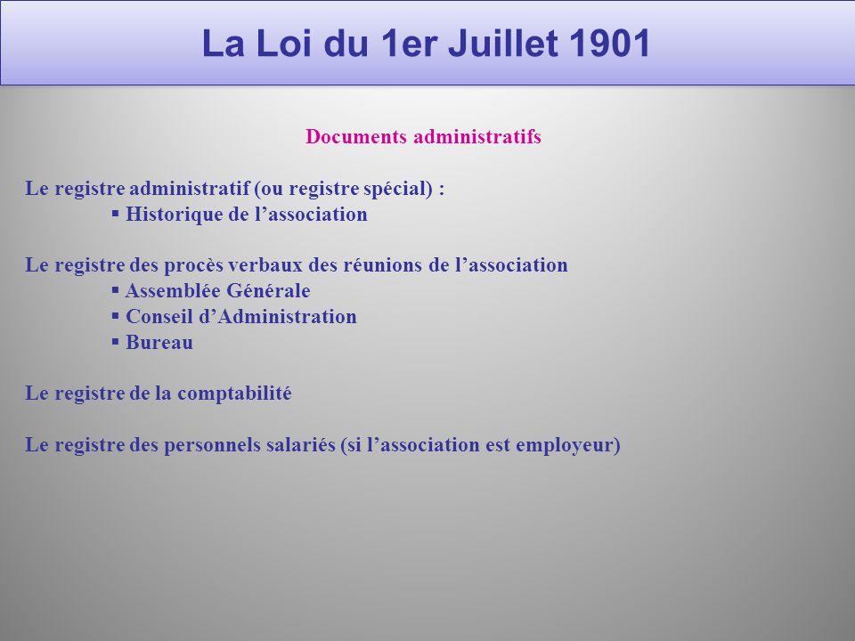 La loi du 1er juillet 1901 maryline nouchi formation - Changement de bureau association loi ...