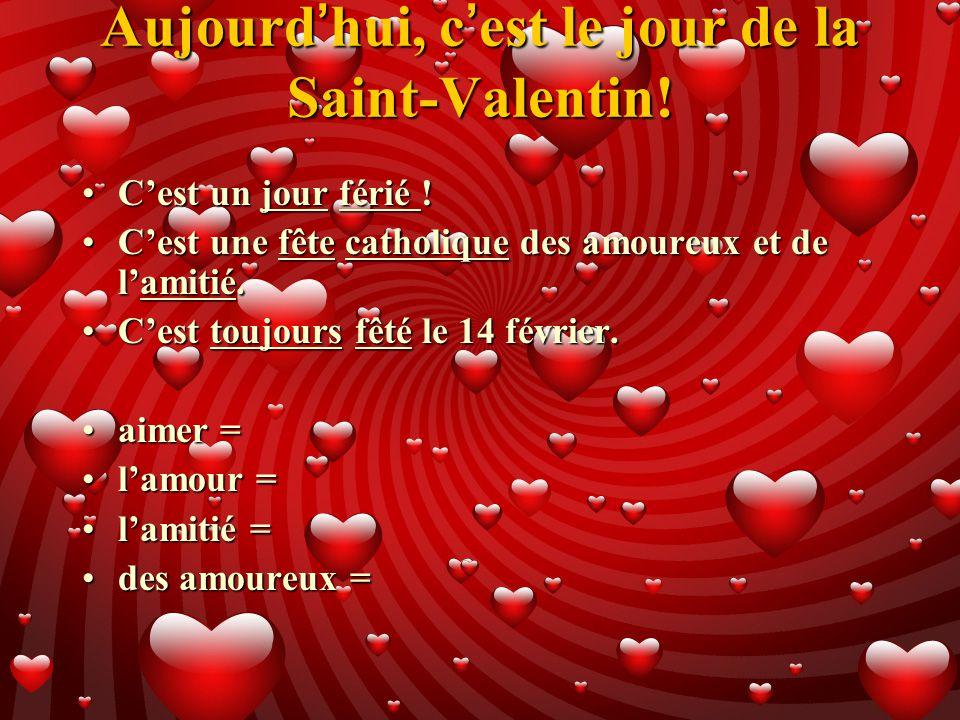 Quel jour la saint valentin - Quel jour est la saint valentin ...