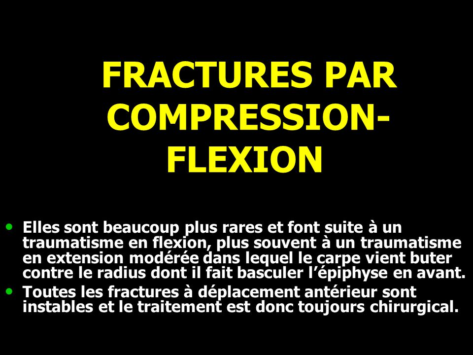 FRACTURES PAR COMPRESSION-FLEXION