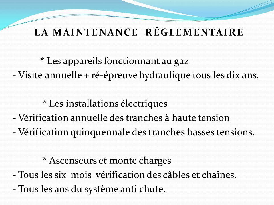 La maintenance ppt t l charger - Verification des installations electriques ...