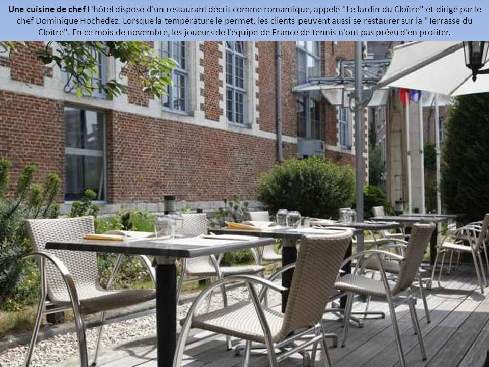 Coupe davis visite guid e de l 39 h tel des bleus lille for Hotel du jardin menu