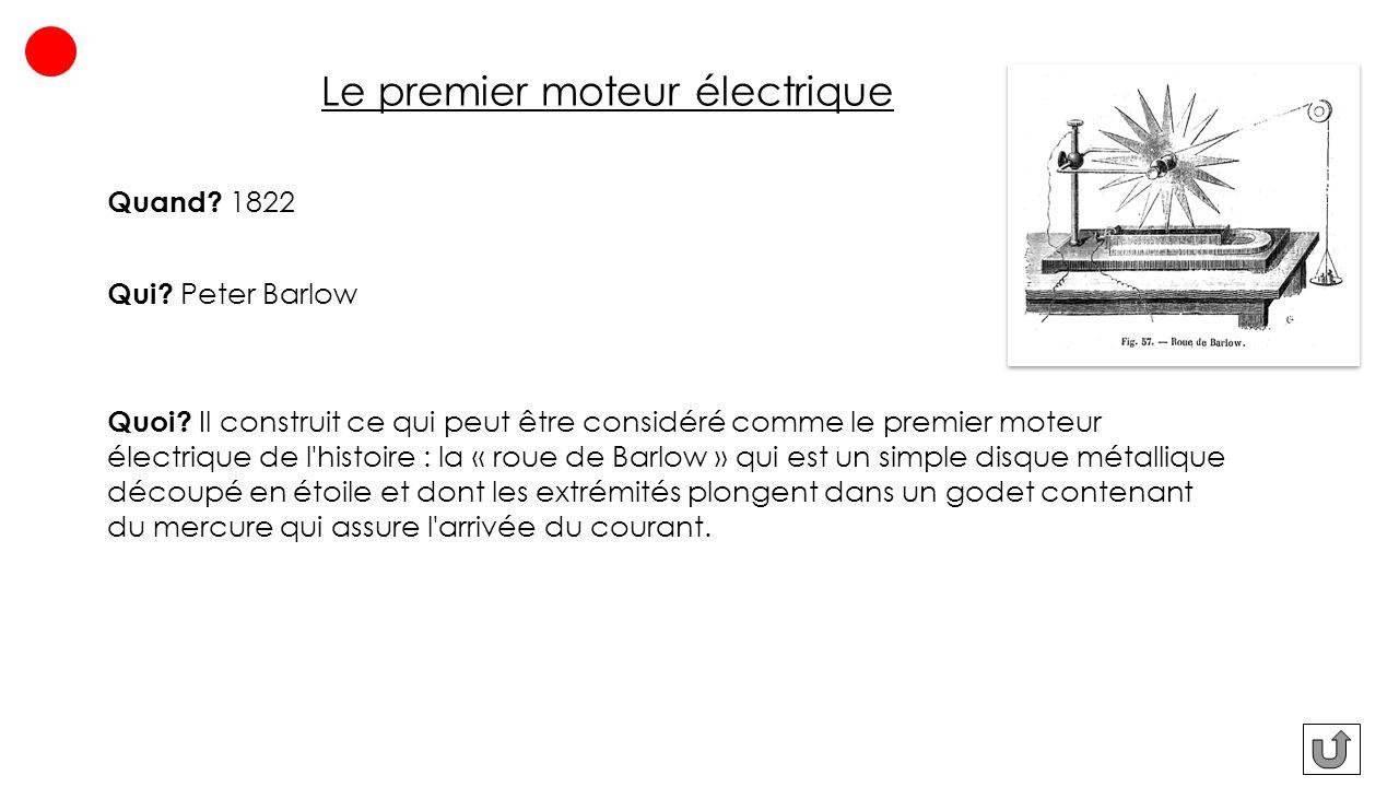 Le premier moteur électrique