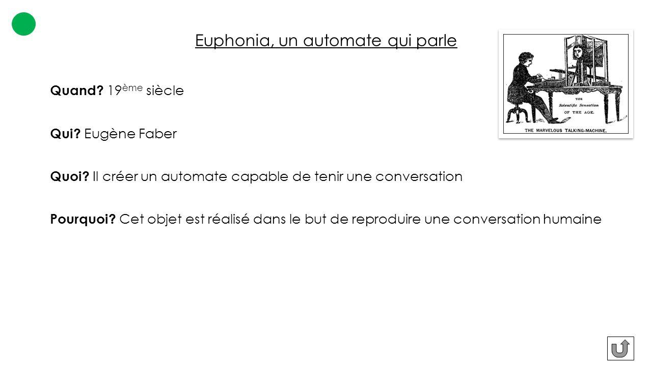 Euphonia, un automate qui parle