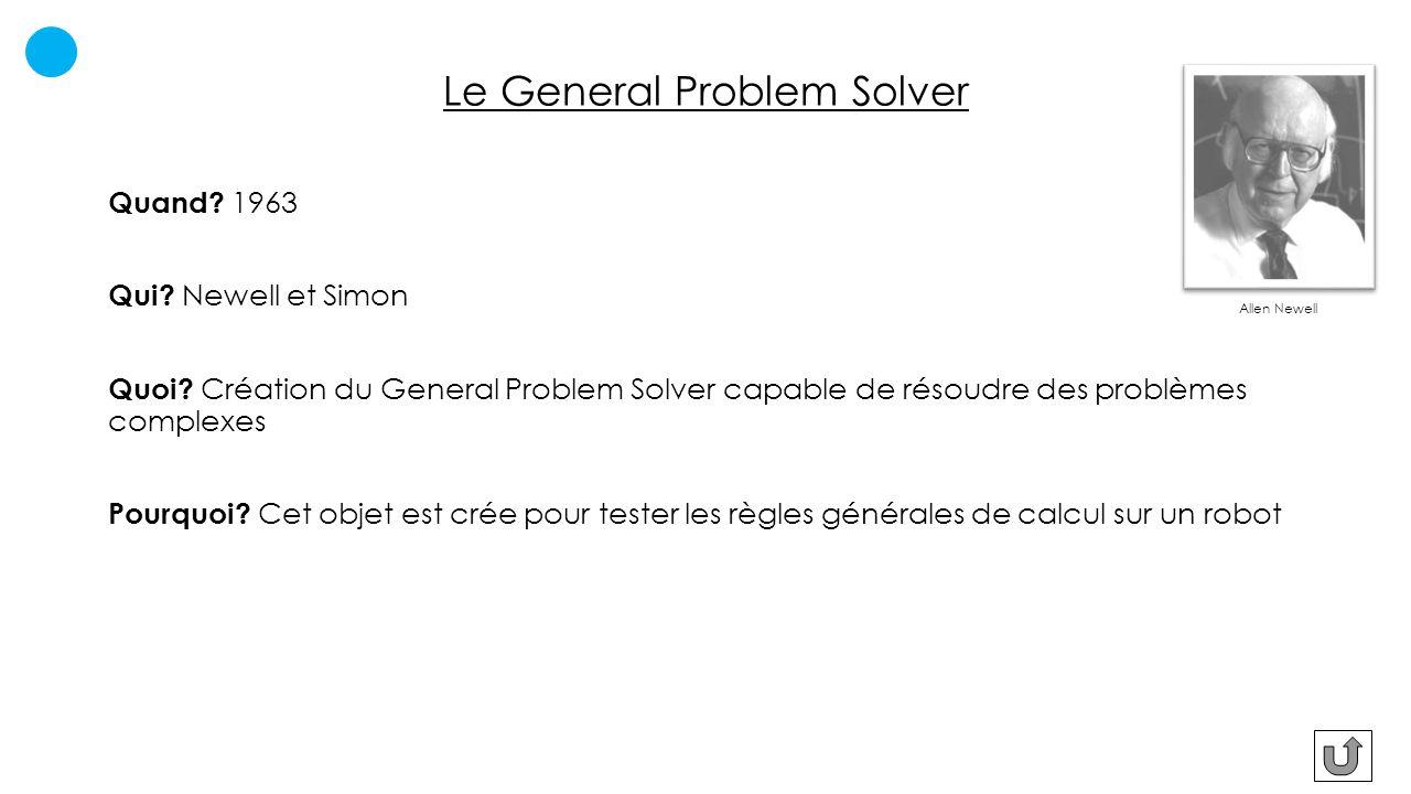 Le General Problem Solver