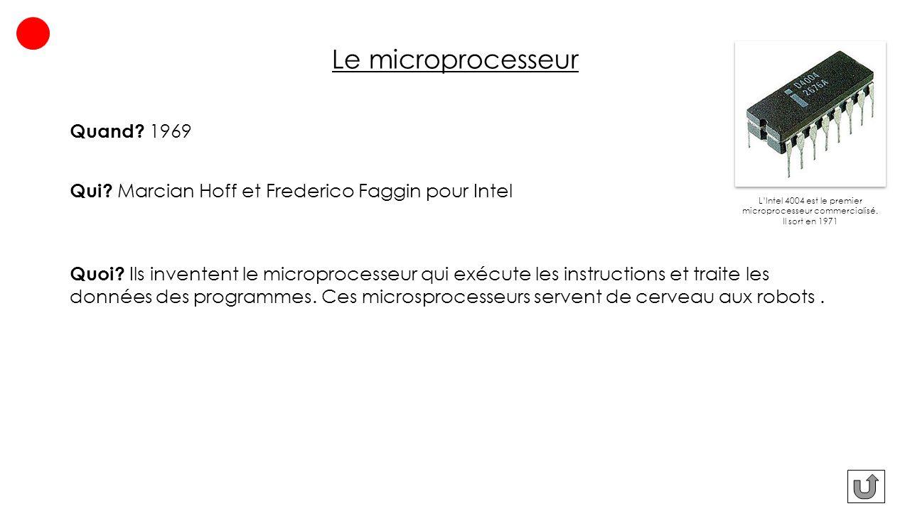 Le microprocesseur Quand 1969