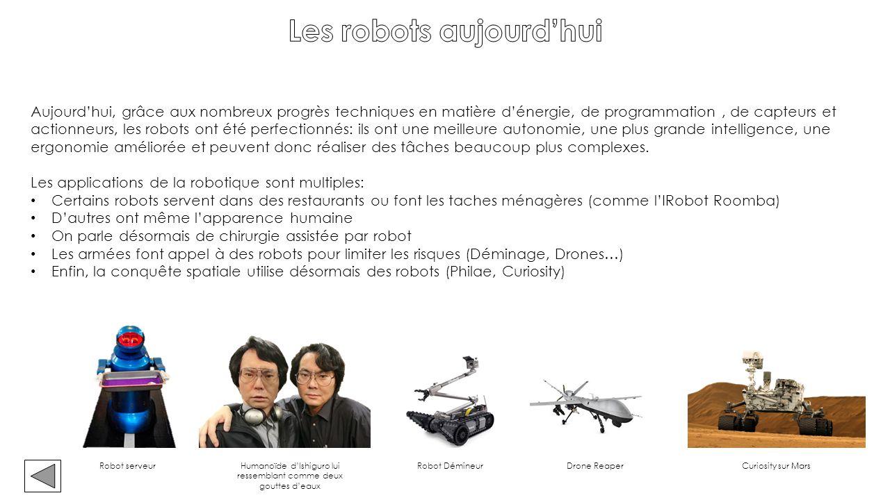 Les robots aujourd'hui