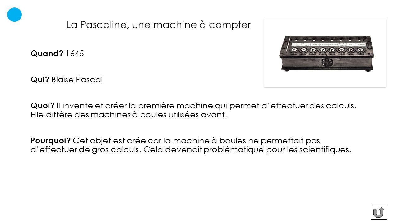 La Pascaline, une machine à compter