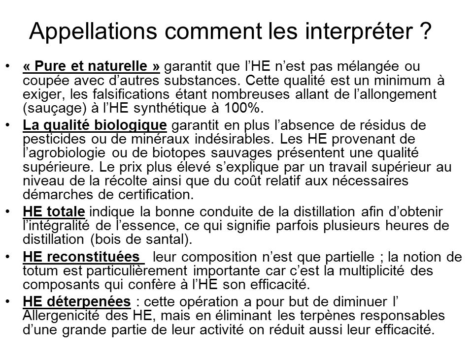 Appellations comment les interpréter