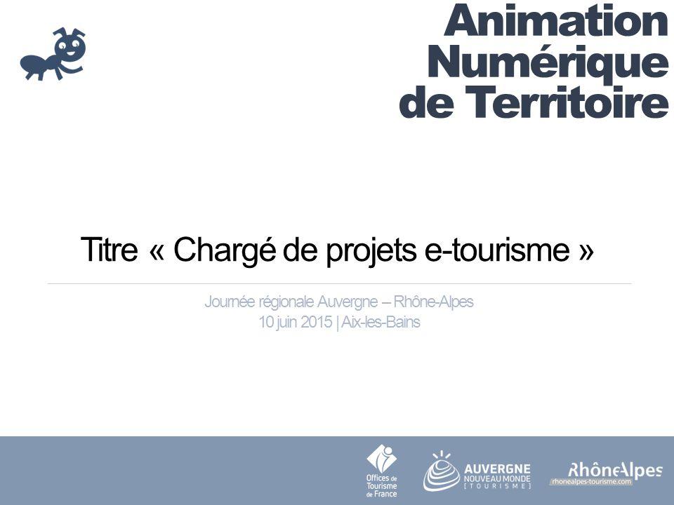 Titre « Chargé de projets e-tourisme »