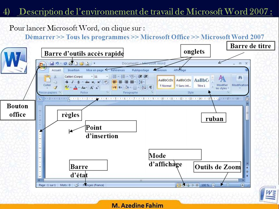Modules chapitre 1 syst me d exploitation ppt t l charger - Telechargement de office word 2007 gratuit ...