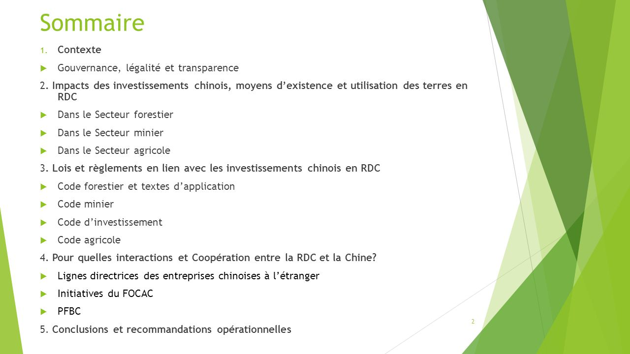 Investissements chinois et affectation des terres forestires ppt 2 sommaire thecheapjerseys Images