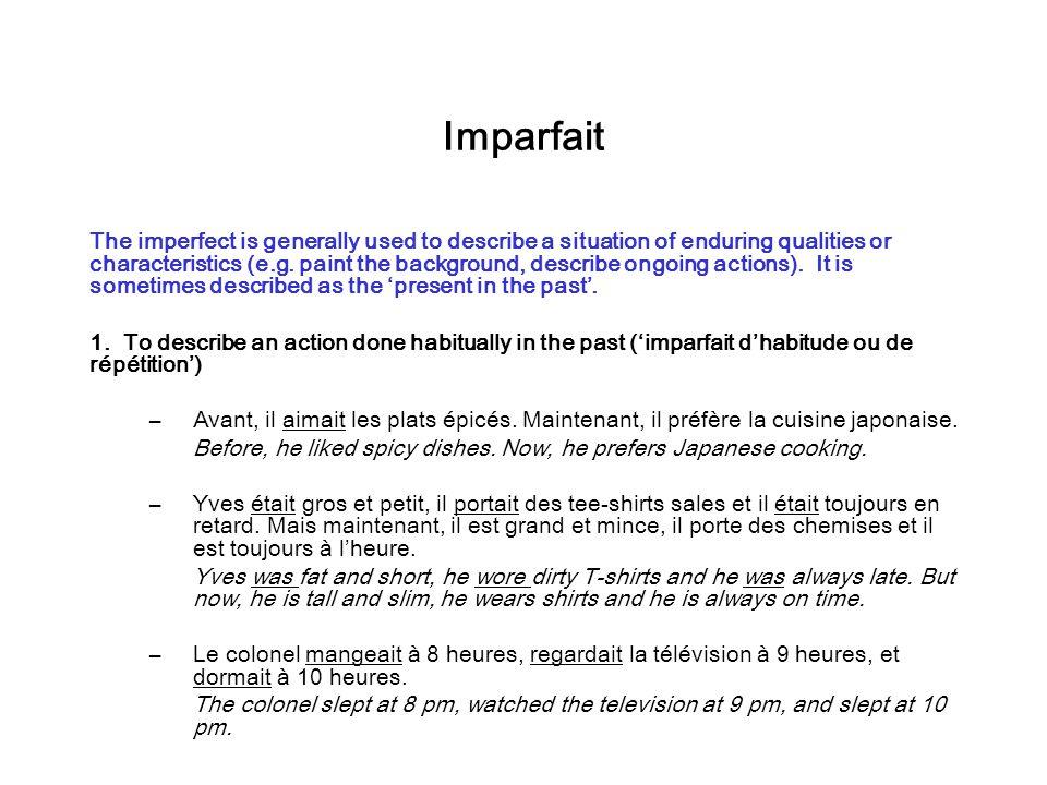 Verbes le voyage mettez ces verbes au pr sent pass for Porte imparfait