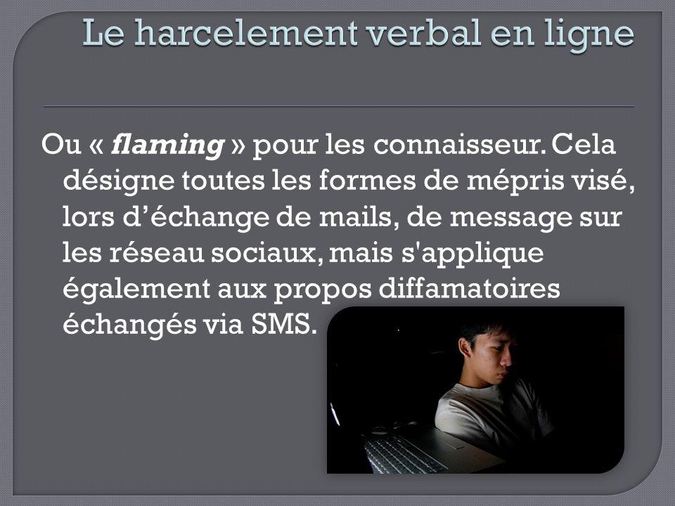 Le harcelement verbal en ligne
