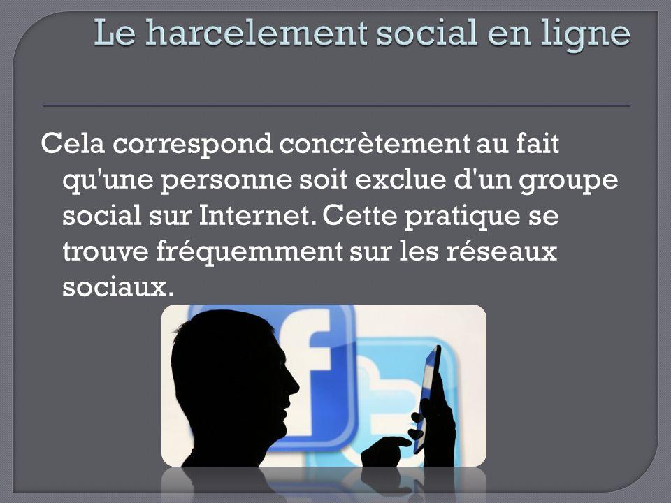 Le harcelement social en ligne