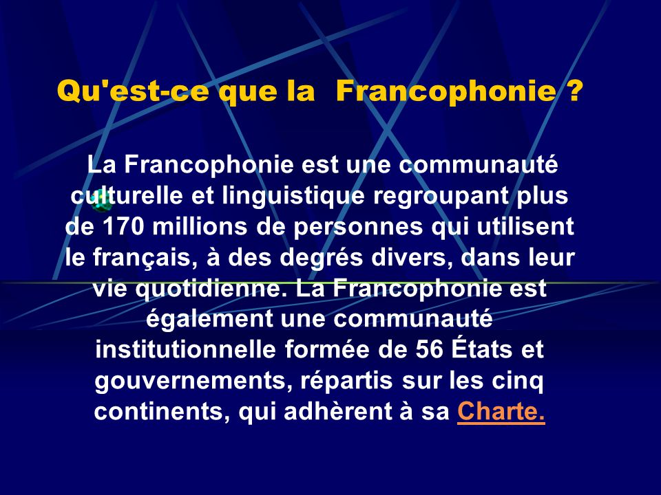 qu est ce que la francophonie pdf