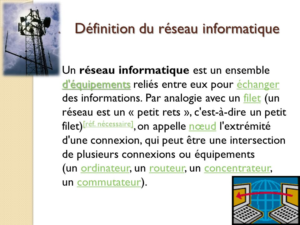 Le r seau informatique ppt video online t l charger for Definition architecture informatique