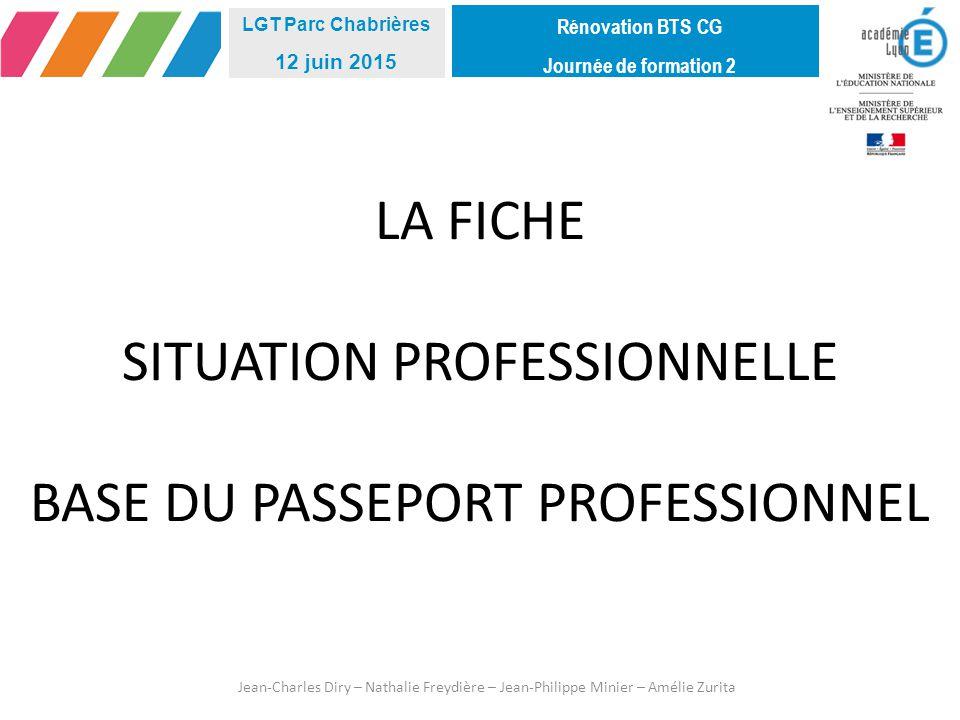 LA FICHE SITUATION PROFESSIONNELLE BASE DU PASSEPORT PROFESSIONNEL