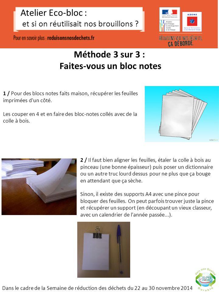 M thode 1 sur 3 faites vous un cahier tout simple ppt - Telecharger un bloc note pour le bureau ...
