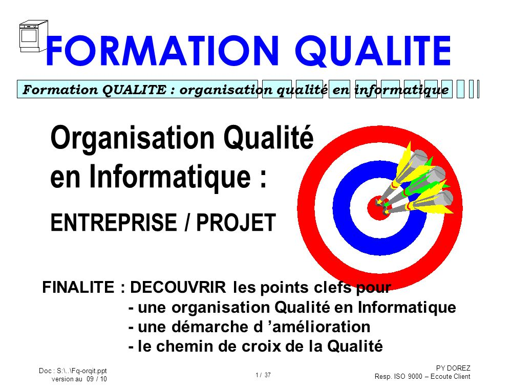 formation qualite organisation qualit u00e9 en informatique