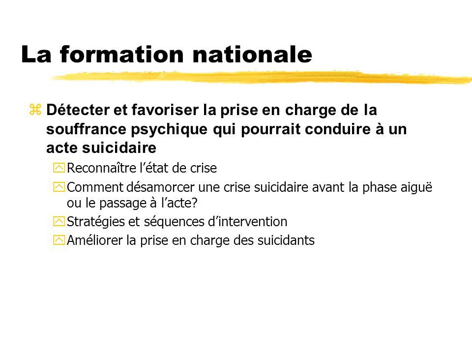 La formation nationale