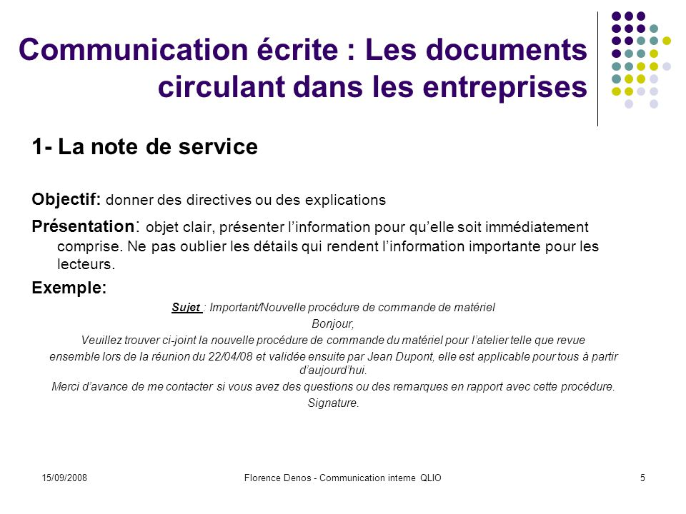 Communication interne qlio ppt t l charger for Service aux entreprises exemple