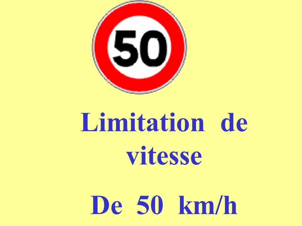 Limitation de vitesse De 50 km/h