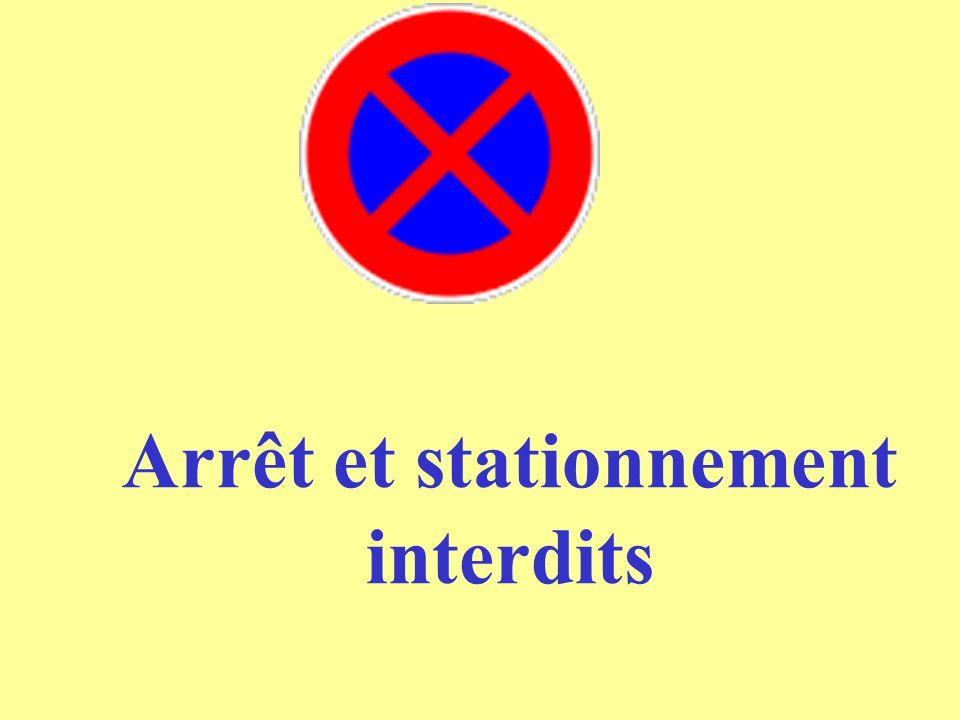 Arrêt et stationnement interdits