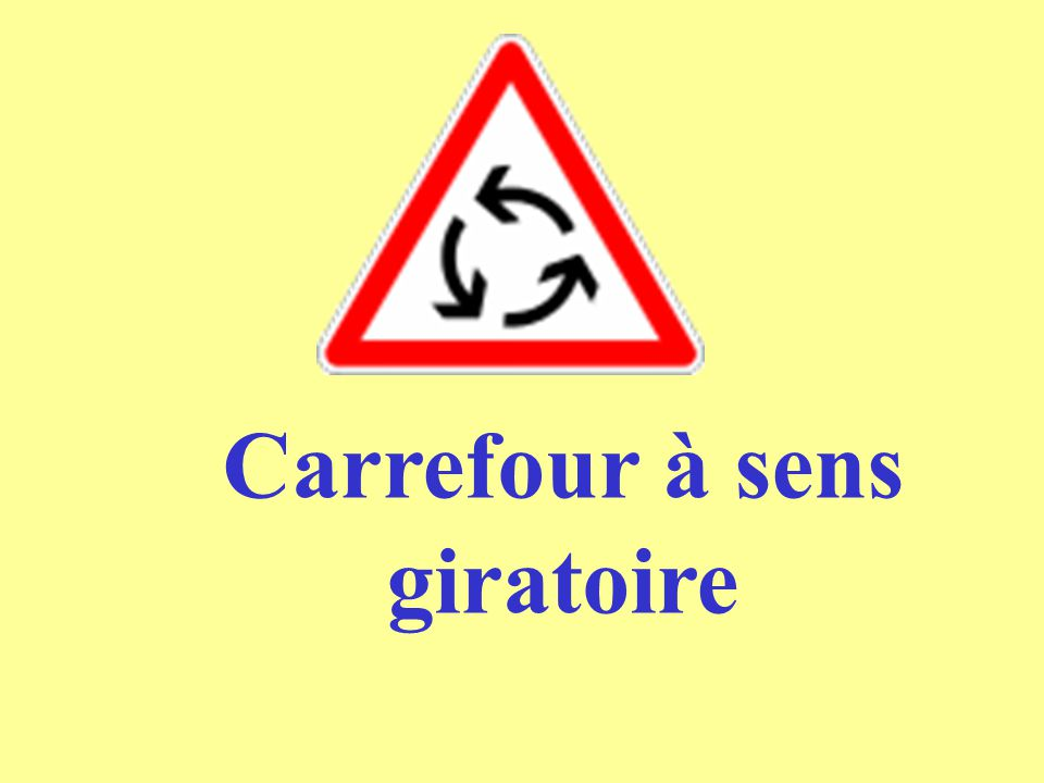 Carrefour à sens giratoire