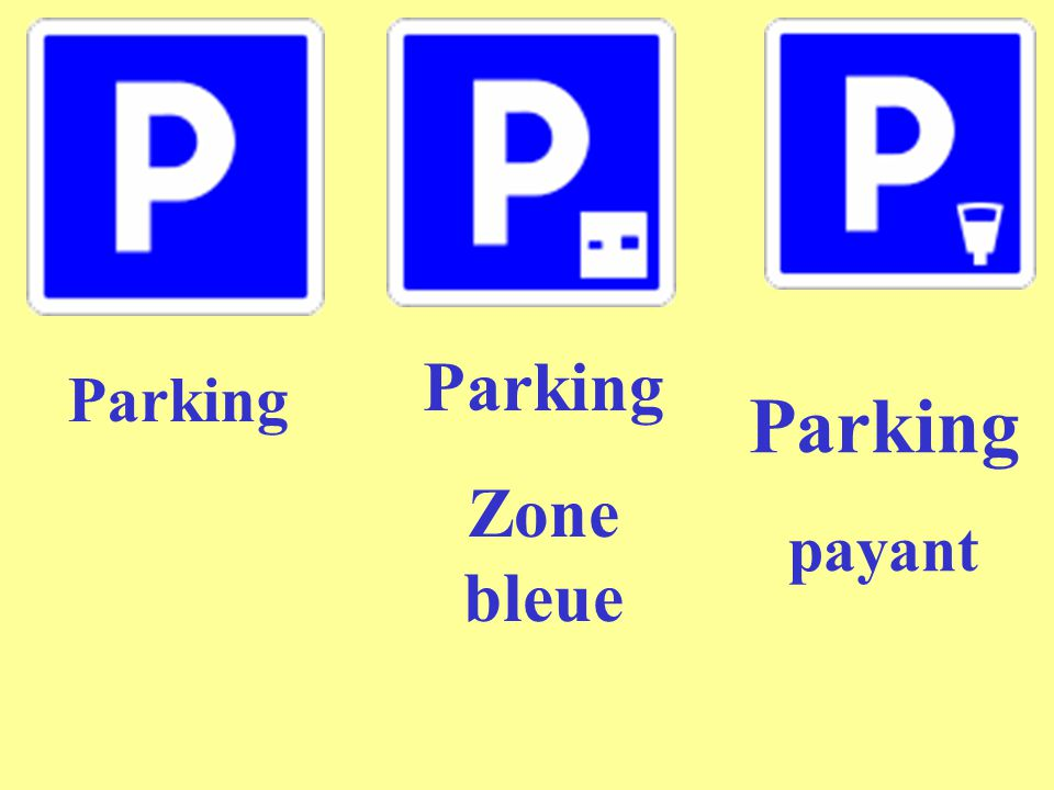 Parking Zone bleue Parking Parking payant