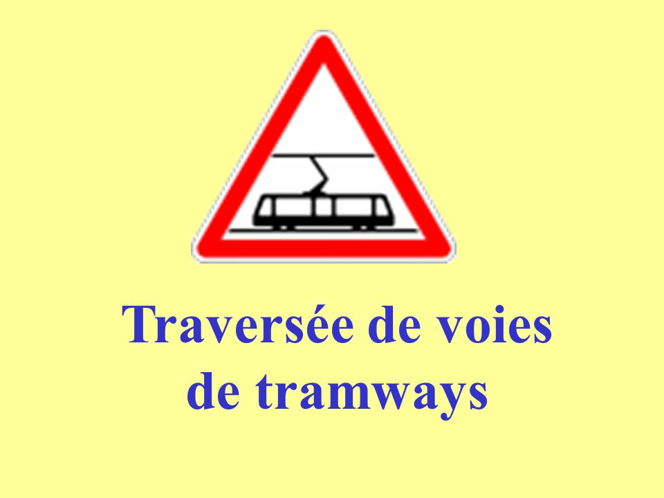 Traversée de voies de tramways