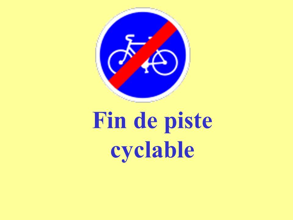 Fin de piste cyclable