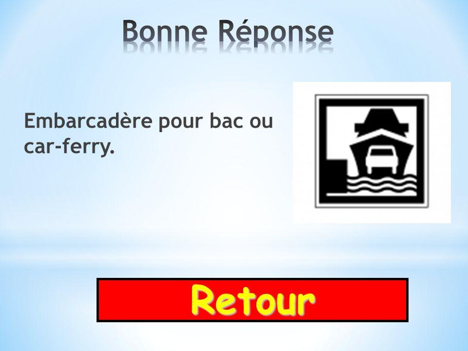 Bonne Réponse Embarcadère pour bac ou car-ferry. Retour