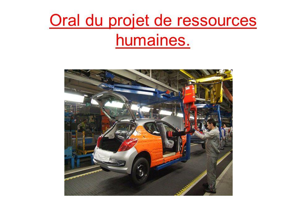 Oral du projet de ressources humaines.