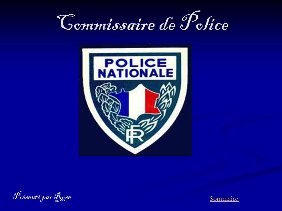 Commissaire de police pr sent par rose sommaire ppt - Grille de salaire commissaire de police ...