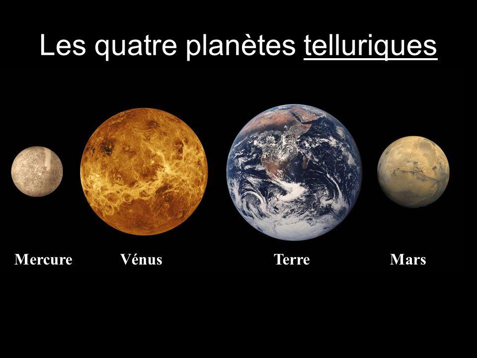Les quatre planètes telluriques