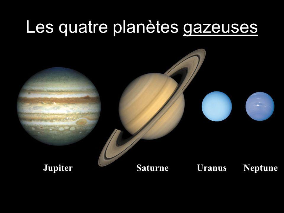 Les quatre planètes gazeuses