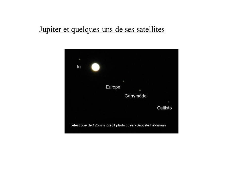 Jupiter et quelques uns de ses satellites