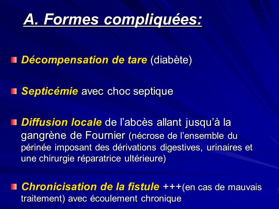 A. Formes compliquées: Décompensation de tare (diabète)