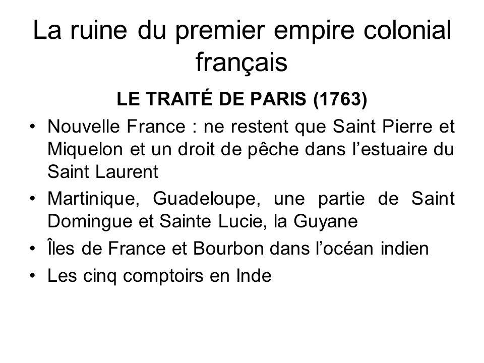 La ruine du premier empire colonial français