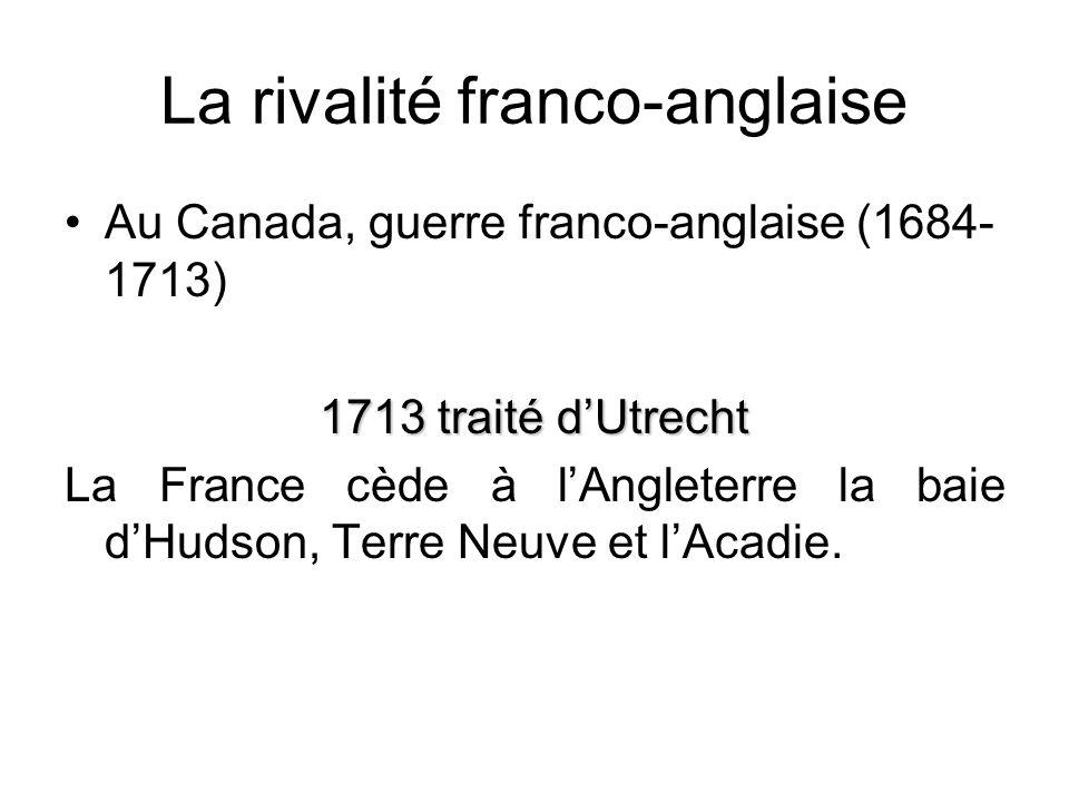 La rivalité franco-anglaise