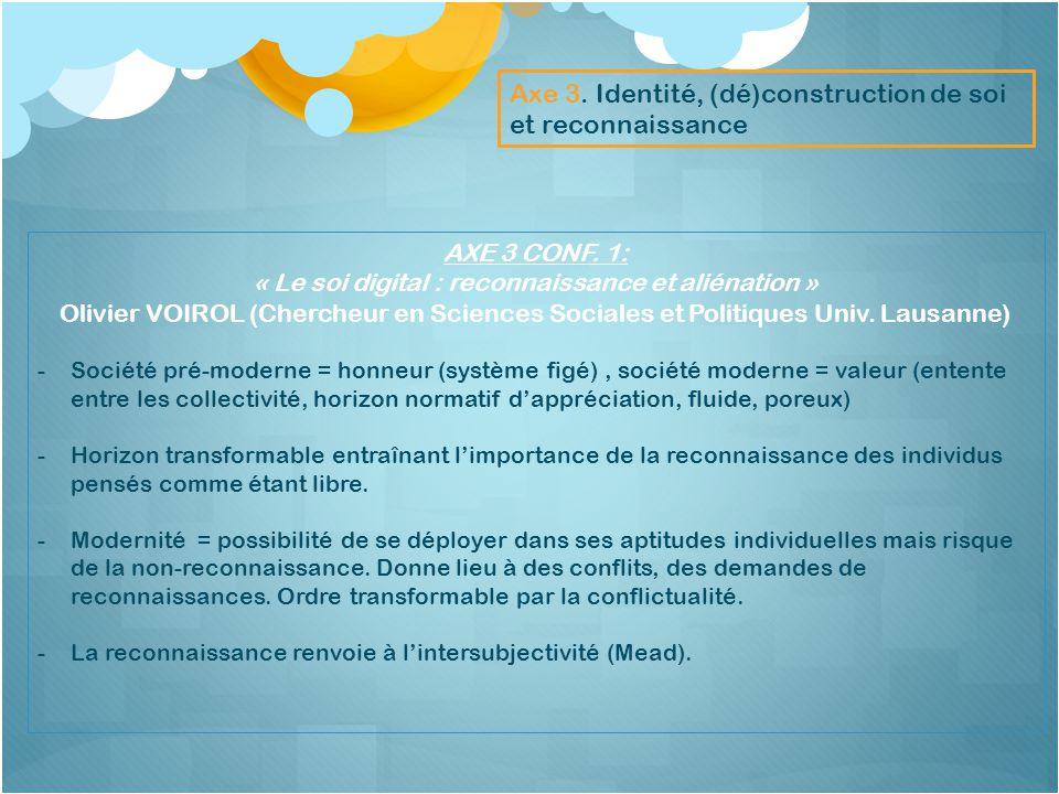 « Le soi digital : reconnaissance et aliénation »