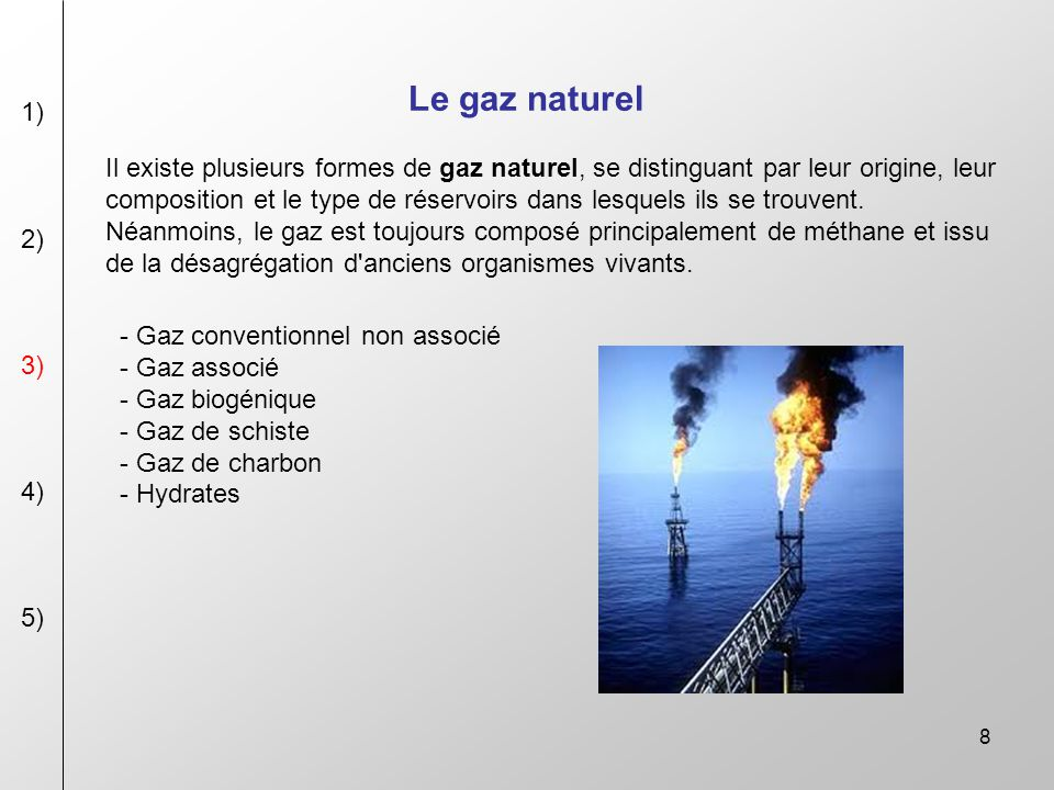 Les energies non renouvelable ppt video online t l charger for Gaz naturel dans le monde