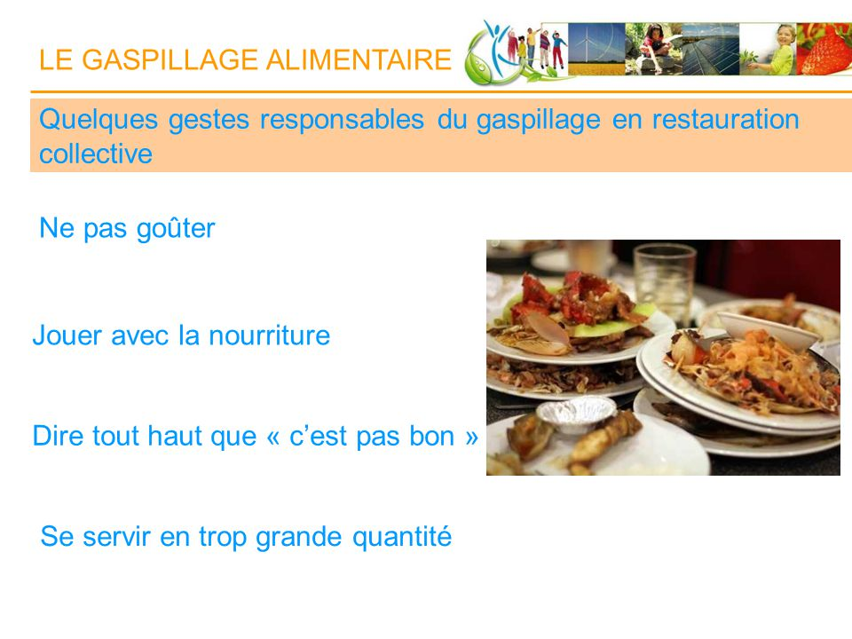 Le gaspillage alimentaire ppt video online t l charger for Agent en restauration collective