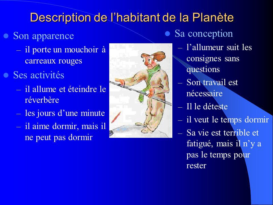 Description de l'habitant de la Planète
