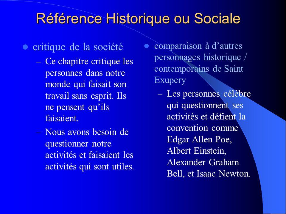 Référence Historique ou Sociale