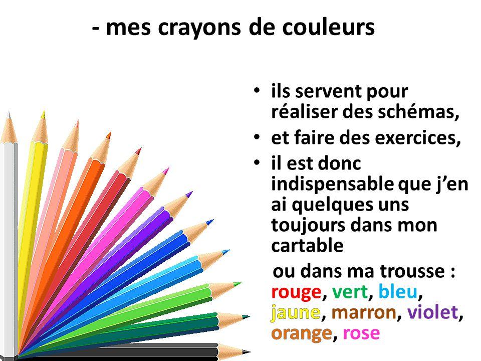 - mes crayons de couleurs