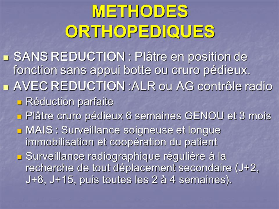 METHODES ORTHOPEDIQUES