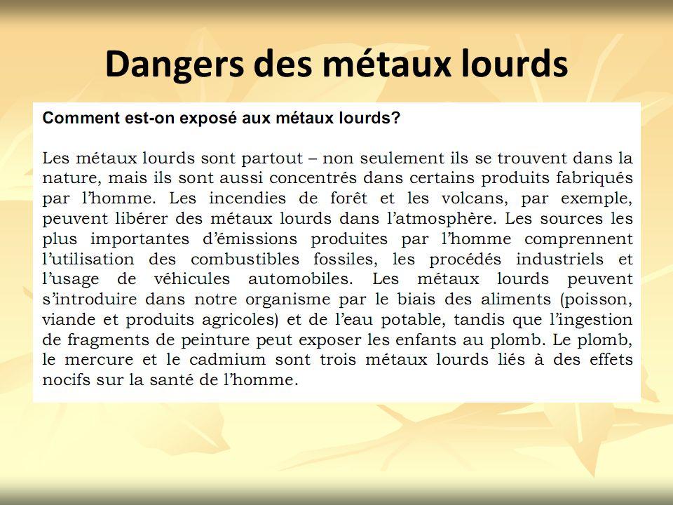 Dangers des métaux lourds