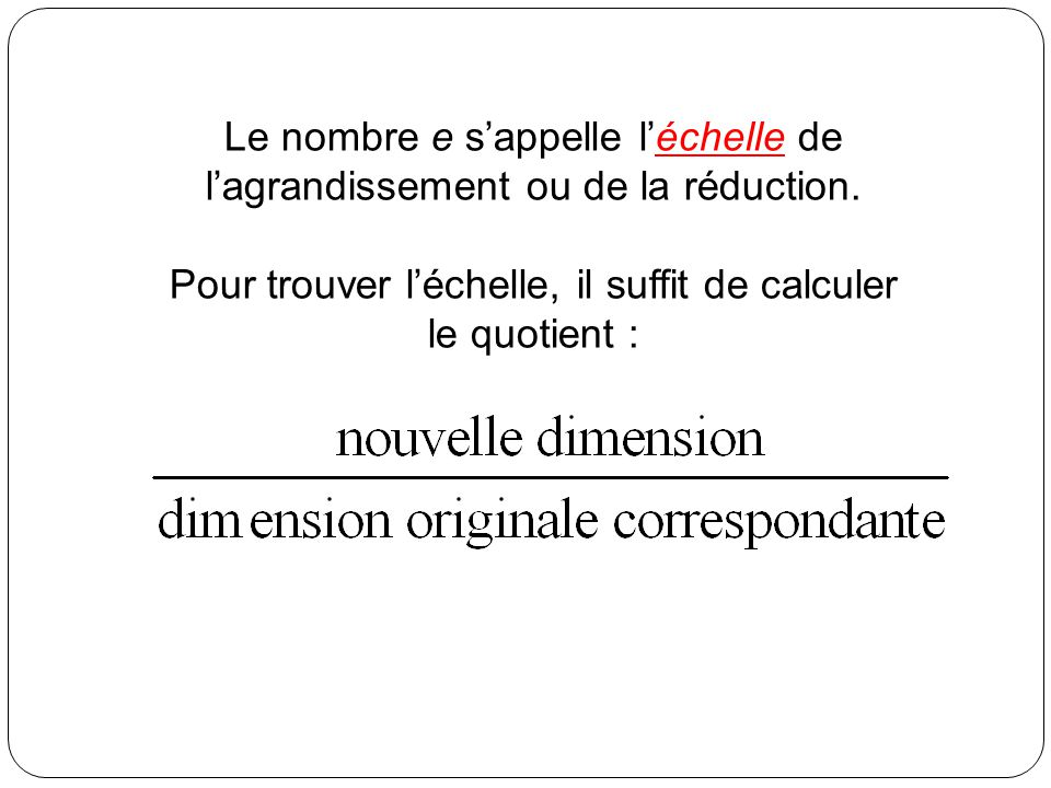 Agrandissement et r duction ppt video online t l charger for Calculer le nombre de parpaing